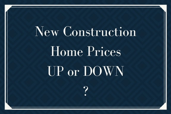 Will new construction home prices be coming down for New home builders prices